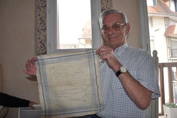 Kléber Marie with Colbert Marie's handkerchief