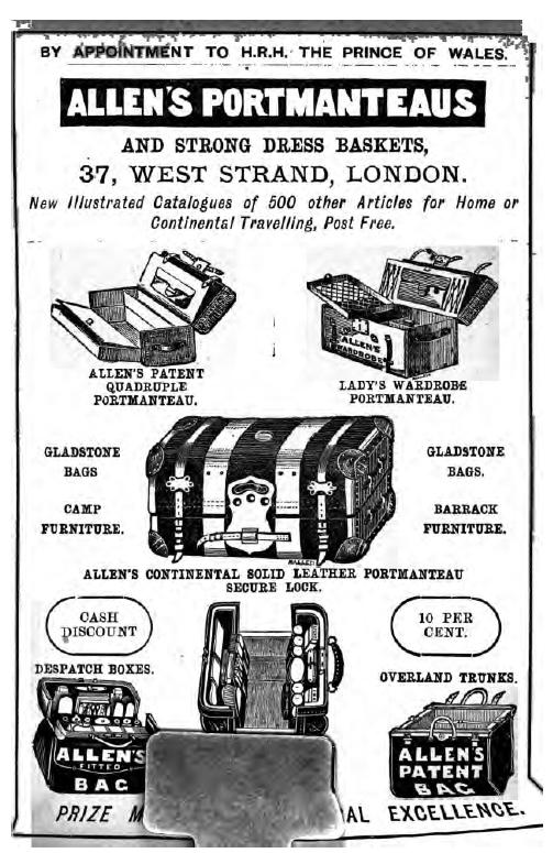 portmanteus advertisement cooks tours 1883
