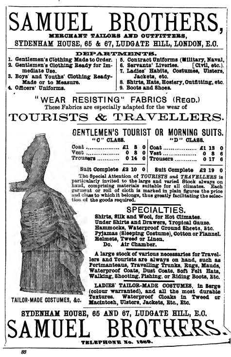 tourist and traveller atire advertisement cooks tours 1883