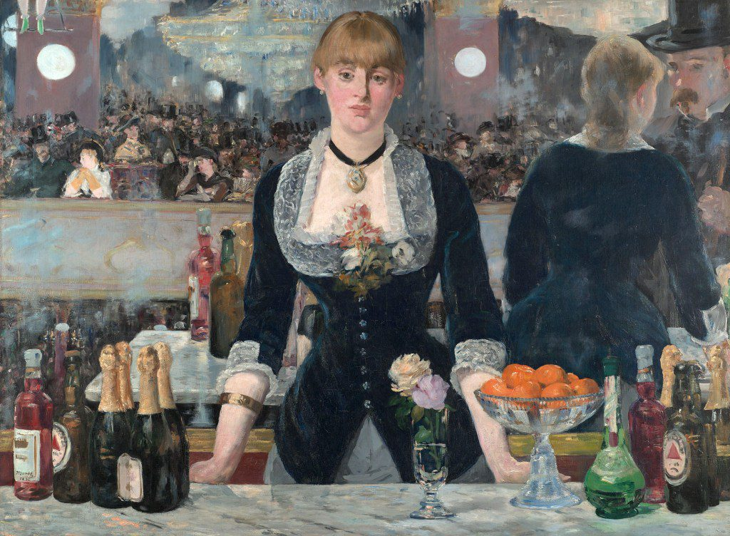 That's him/you on the right! Eduard Manet's A Bar at the Folies-Bergère