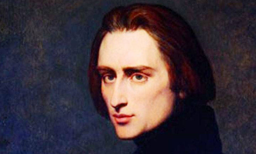 Portrait of Franz Liszt by Ary Scheffer 1837