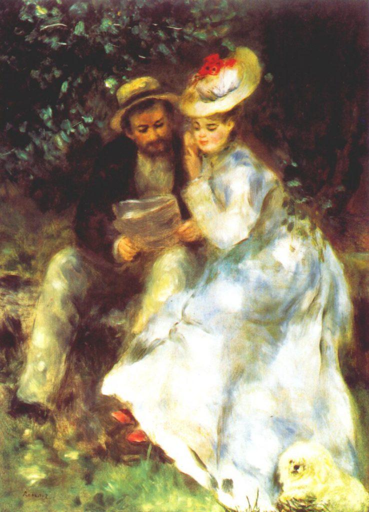 Auguste Renoir 'Confidences' 1875