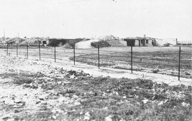 The flattened casino, now part of a vast bunker complex, 1944 Ouistreham