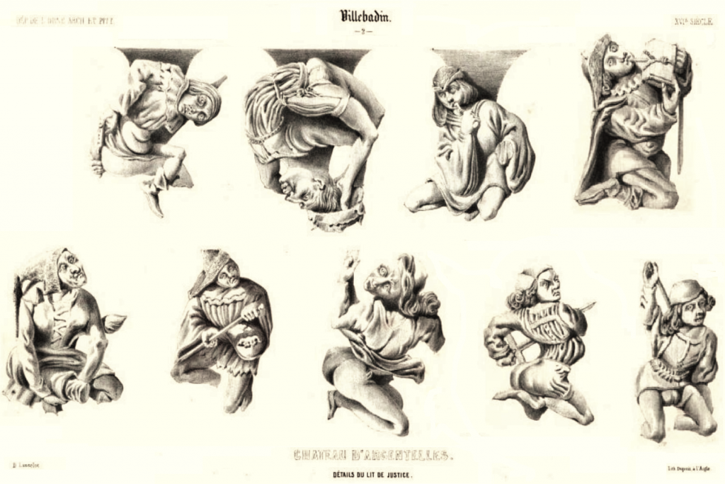 Figures on the pendentives drawn by Dieudonné-Auguste Lancelot.