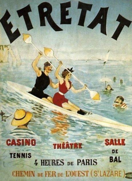Étretat , travel poster