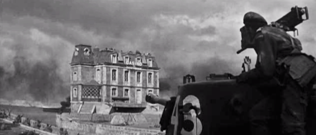 The resurrected casino 6 June 1944 - screen grab from the film The Longest Day
