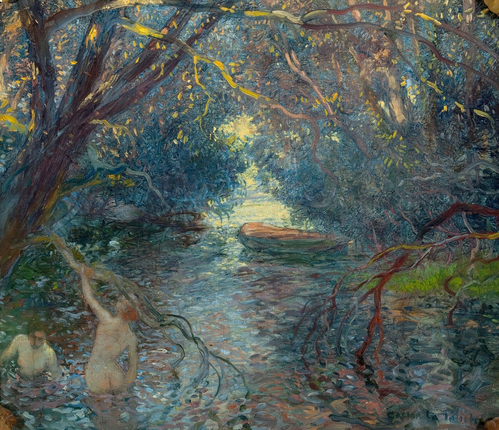 The bathers, Gaston La Touche - looks like a Normandy stream to us!