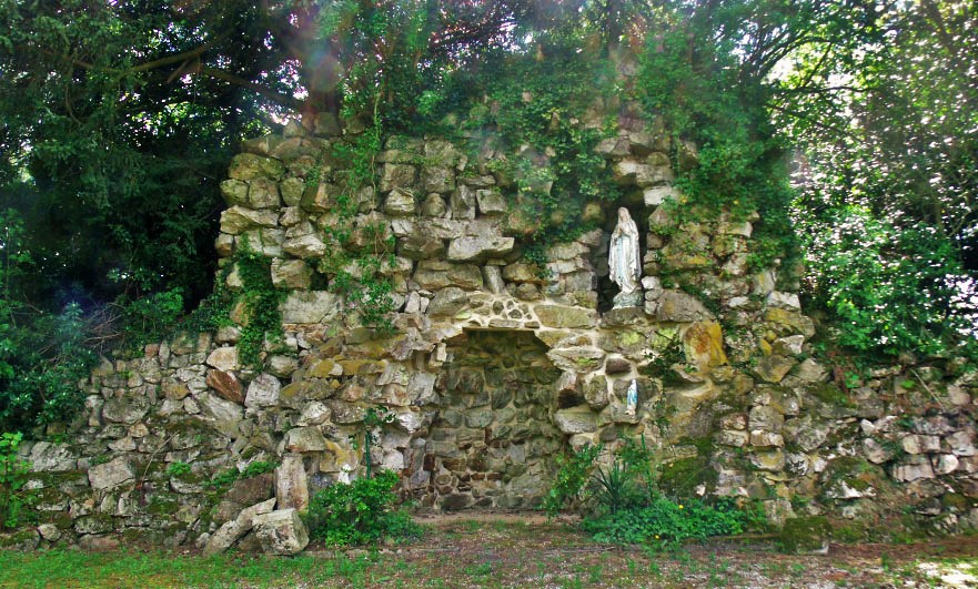 The shrine to the Virgin Mary, and grotto in Perrou, Orne Normandy - match!