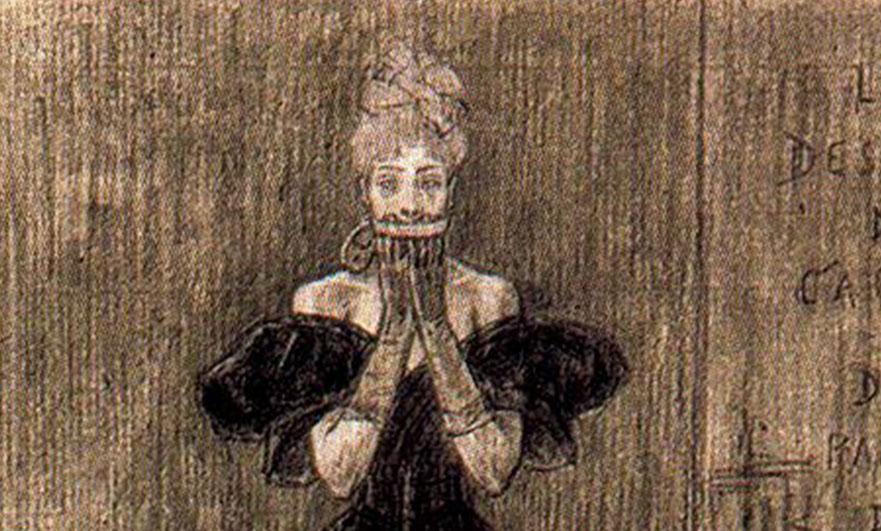 """Illustration from """"Le dessous de cartes d'une partie de whist"""""""