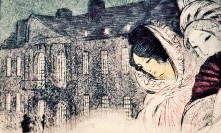 Illustration by Malo-Renault from an early copy of Diaboliq e story 'Le dessous de cartes d'une partie de whist' '