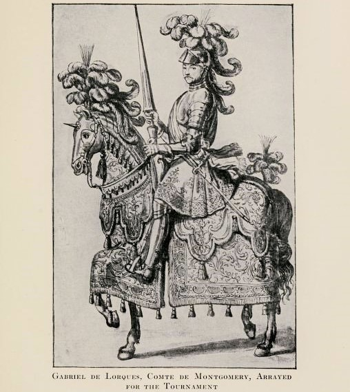 Gabriel de Lorges, comte de Montgomery ready for the joust