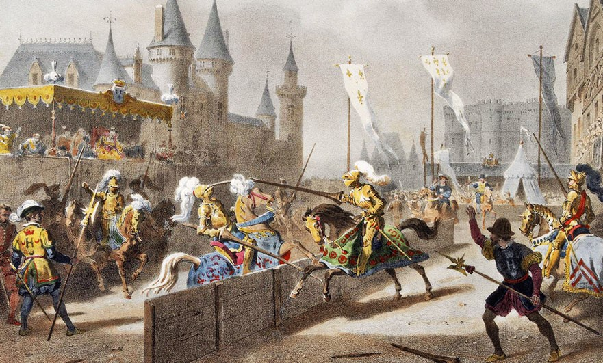 The fatal joust between Henry II of France and Gabriel de Lorges, comte de Montgomery