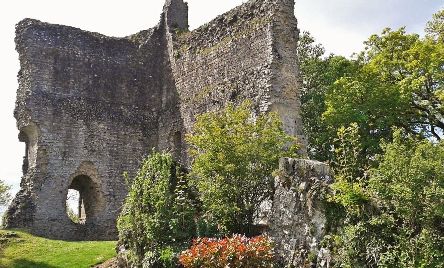 Ruins of the old castle. Domfront castle was considered a danger to kings for many years after this siege. The castle was destroyed on the orders of the duc de Sully in 1608