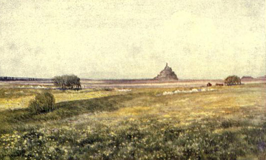 Mont Saint-Michel from the coast road, by Gordon Cochrane Home
