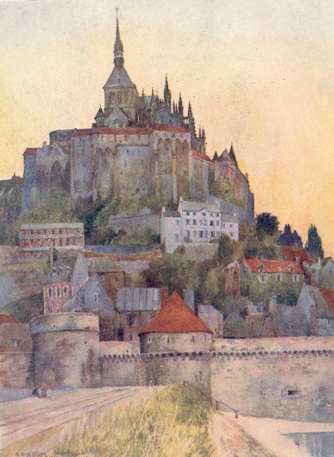 Mont Saint-Michel watercolour by Gordon Cochrane Home