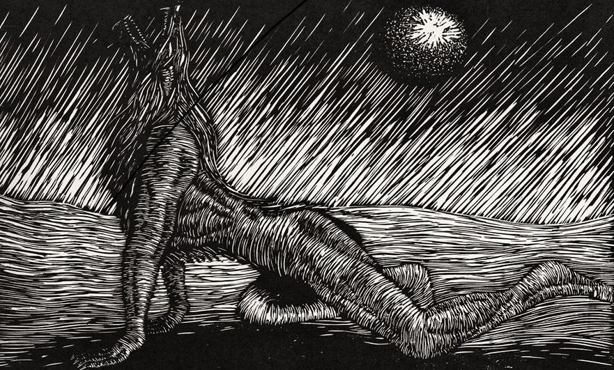 werewolf-linocut