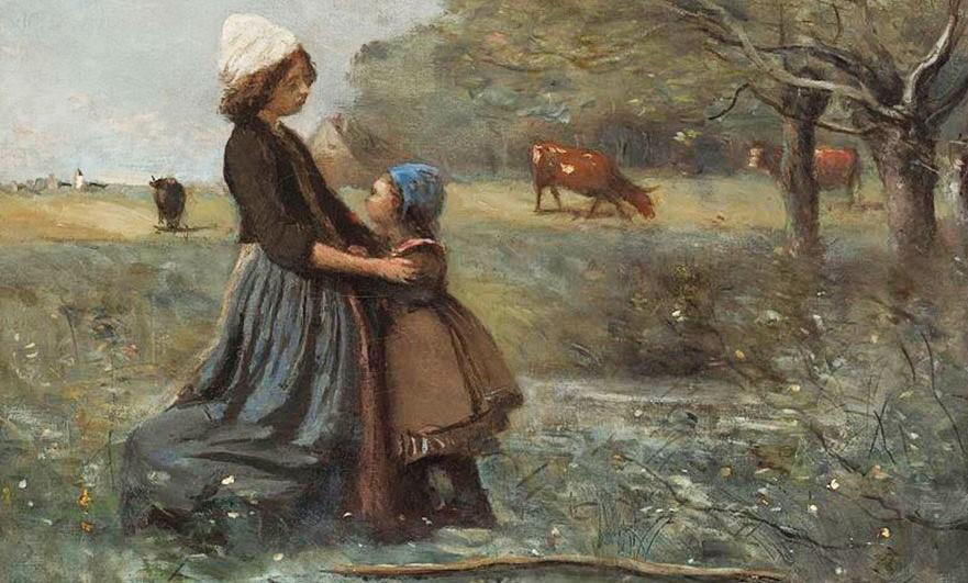 Jean-Baptiste-Camille Corot, Les deux soeurs dans la prairie