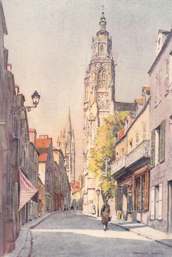 Watercolour by Gordon Home of Coutances