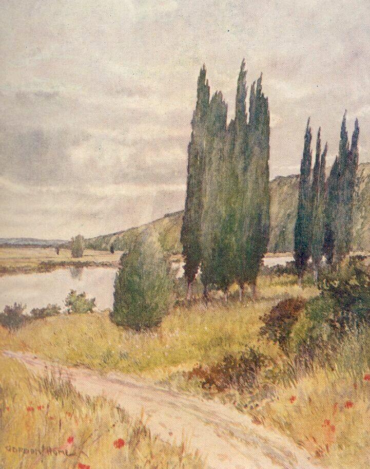 Watercolour by Gordon Home of the river Seine