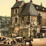 Honfleur at the end of the 19th century, in photochrom