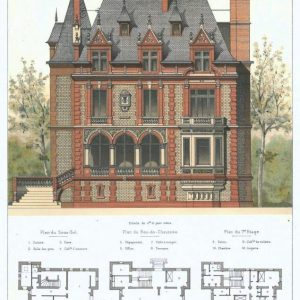 19th century architectural lithographs of Houlgate villas (11)