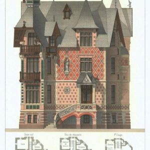19th century architectural lithographs of Houlgate villas (13)