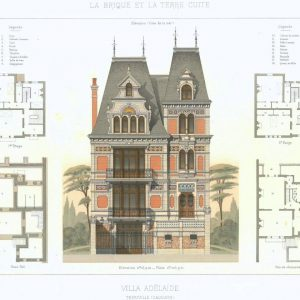 19th century architectural lithographs of Houlgate villas (3)
