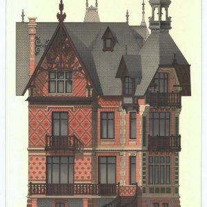 19th century architectural lithographs of Houlgate villas (4)