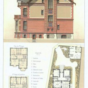 19th century architectural lithographs of Houlgate villas (5)