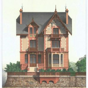 19th century architectural lithographs of Houlgate villas (9)