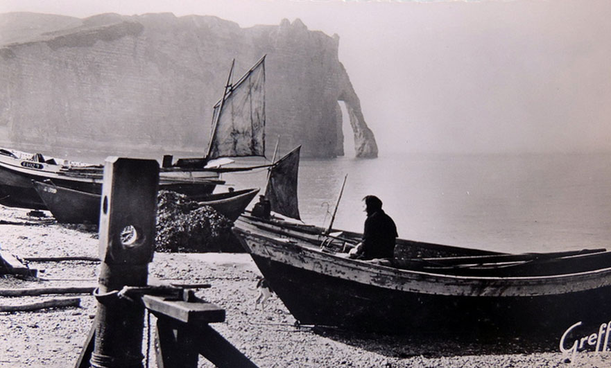 Monet's unquiet heart, in Étretat