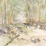 The war artist, June 1944 in Normandy