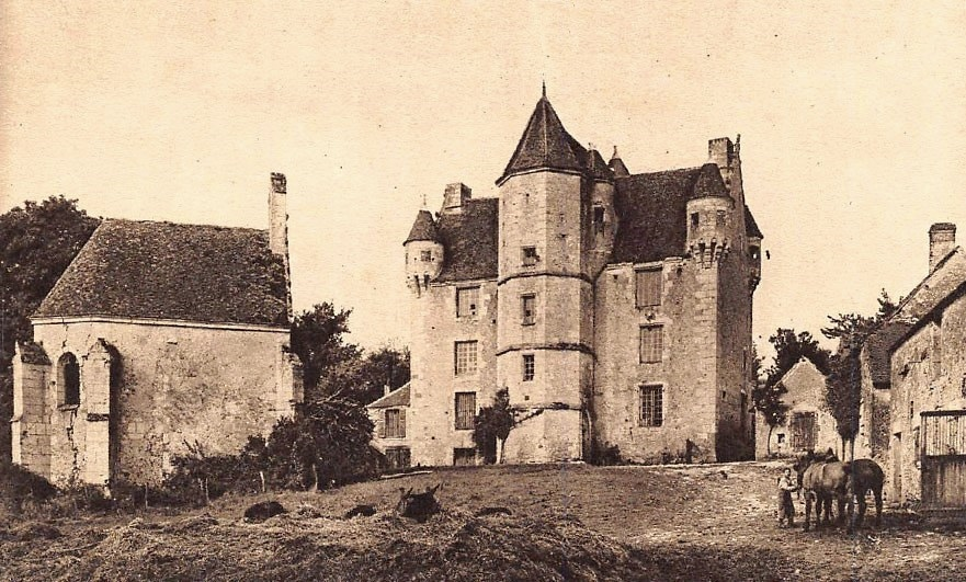 The vandal of Manoir de Courboyer, in the Perche