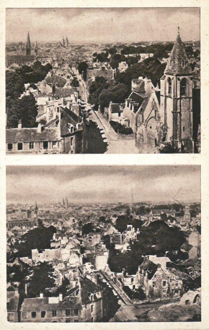 Caen, before and after the battle of 1944 - Normandy Then