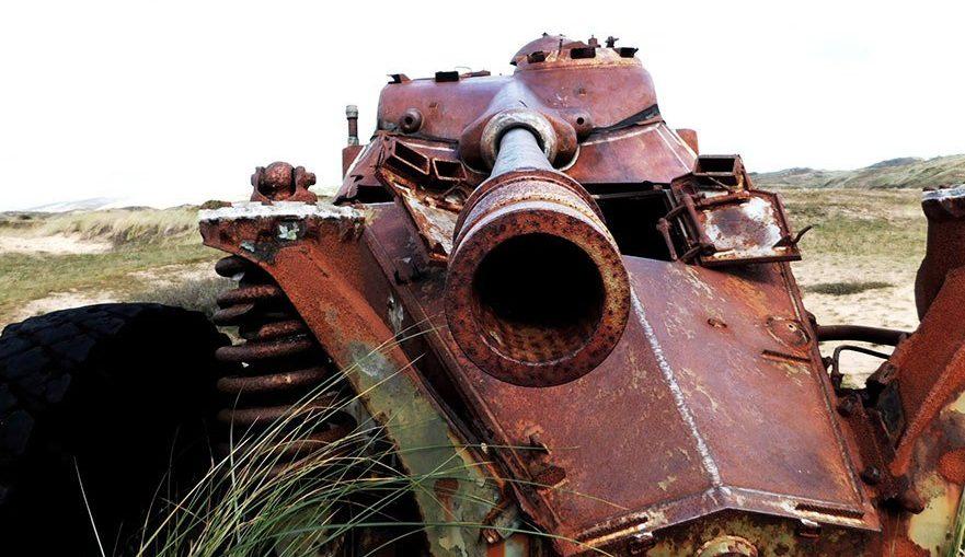 Biville dunes wrecked tanks