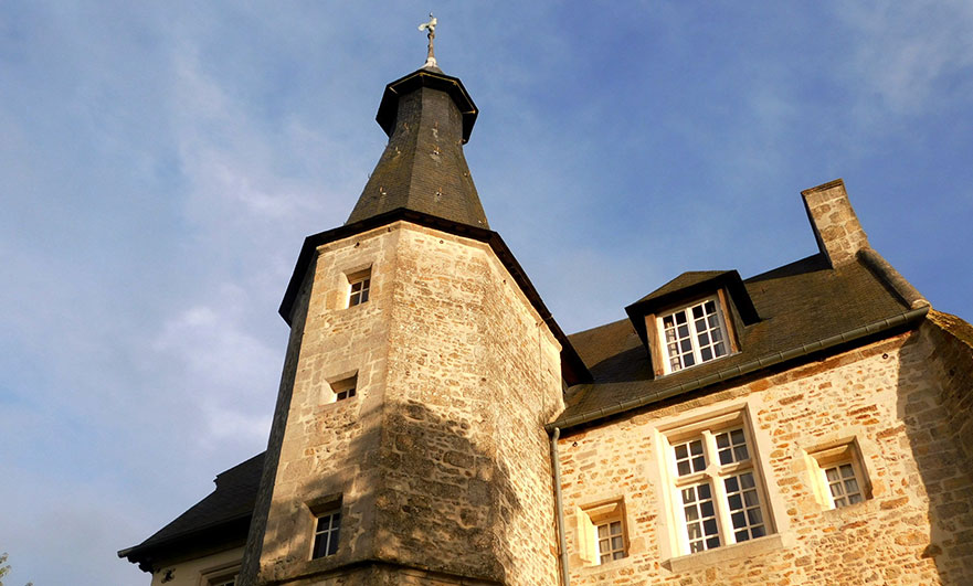15th century tower at Le Vieux Chateau Le Renouard in the Orne