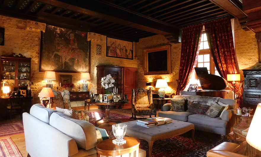 Drawing room, Le Vieux Chateau Le Renouard - so comfortable and all ours.
