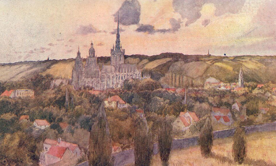 More watercolours of Normandy by Gordon C. Home – guest artist blogger