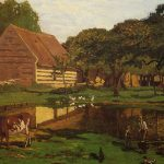 a-farmyard-in-normandy-1863-Claude-Monet