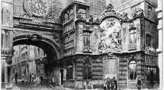 Rouen Fontaine du Gros Horloge Charles Pinet