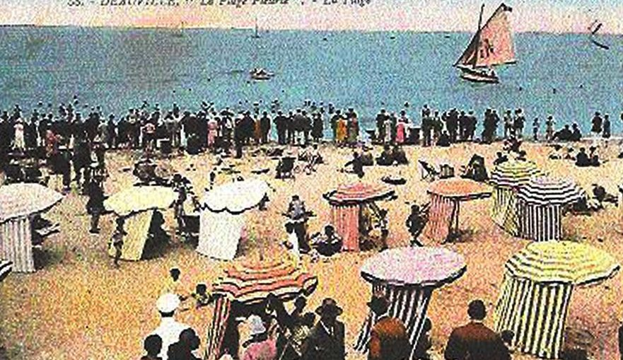 Another summer day, in Deauville vintage postcard