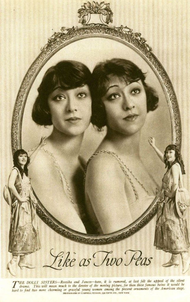 Rózsika and Janka Deutsch, the Dolly Sisters
