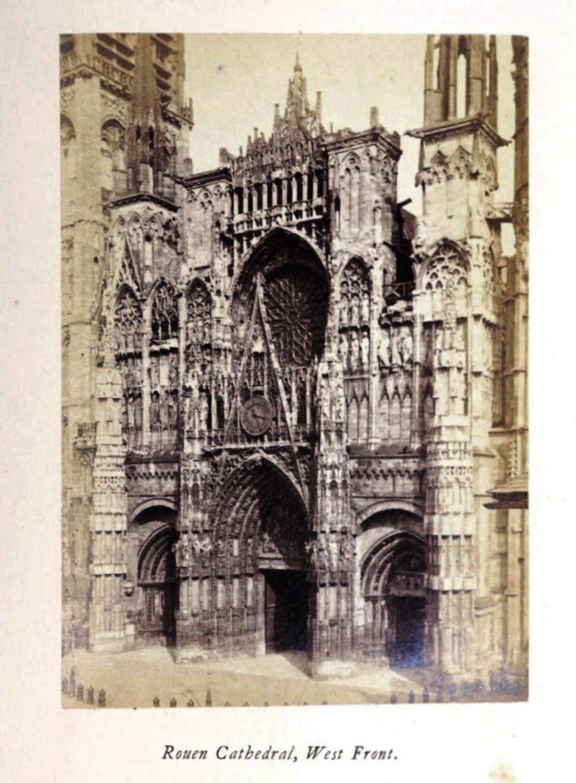 Rouen cathedral, 1865 silver albumen photograph, Normandy