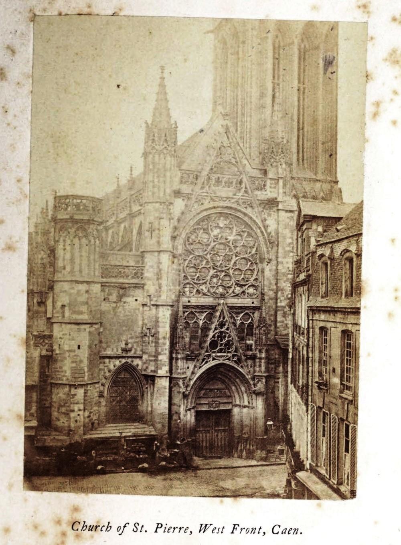 St Pierre Caen 1865 silver albumen photograph, Normandy