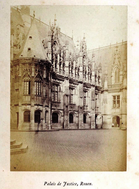 Palais de Justice Rouen, 1865 silver albumen photograph, Normandy