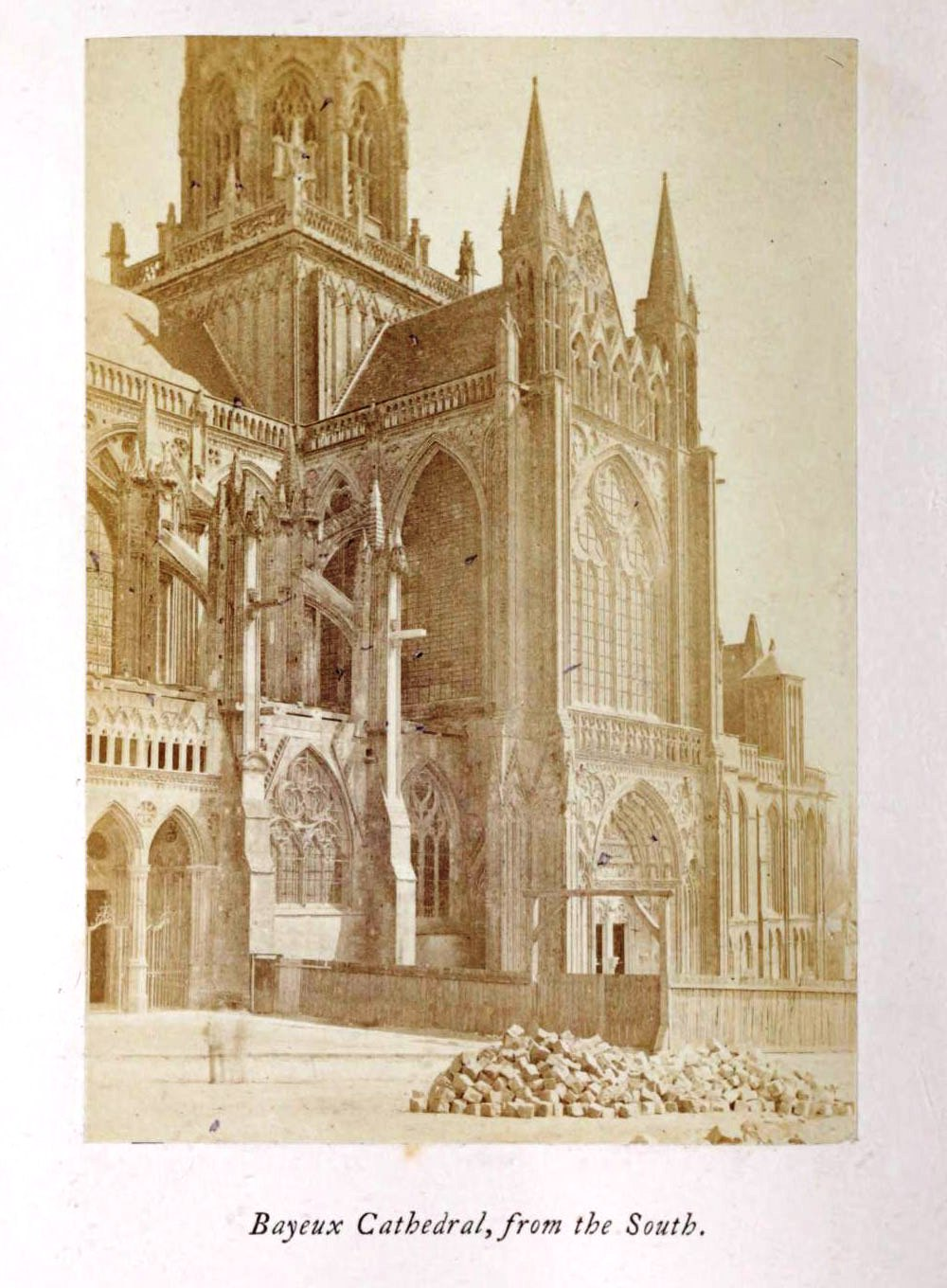 Bayeux Cathedral, 1865 silver albumen photograph, Normandy