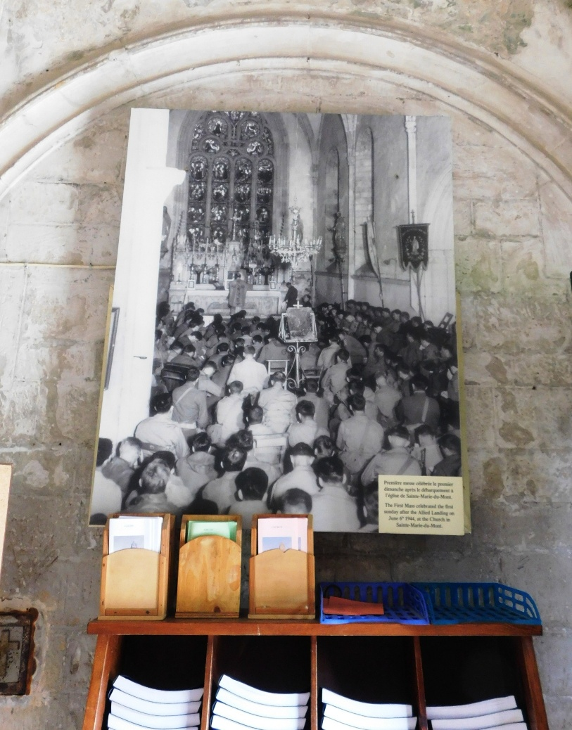 The first church service after liberation in Sainte-Marie-du-Mont 12 June 1944