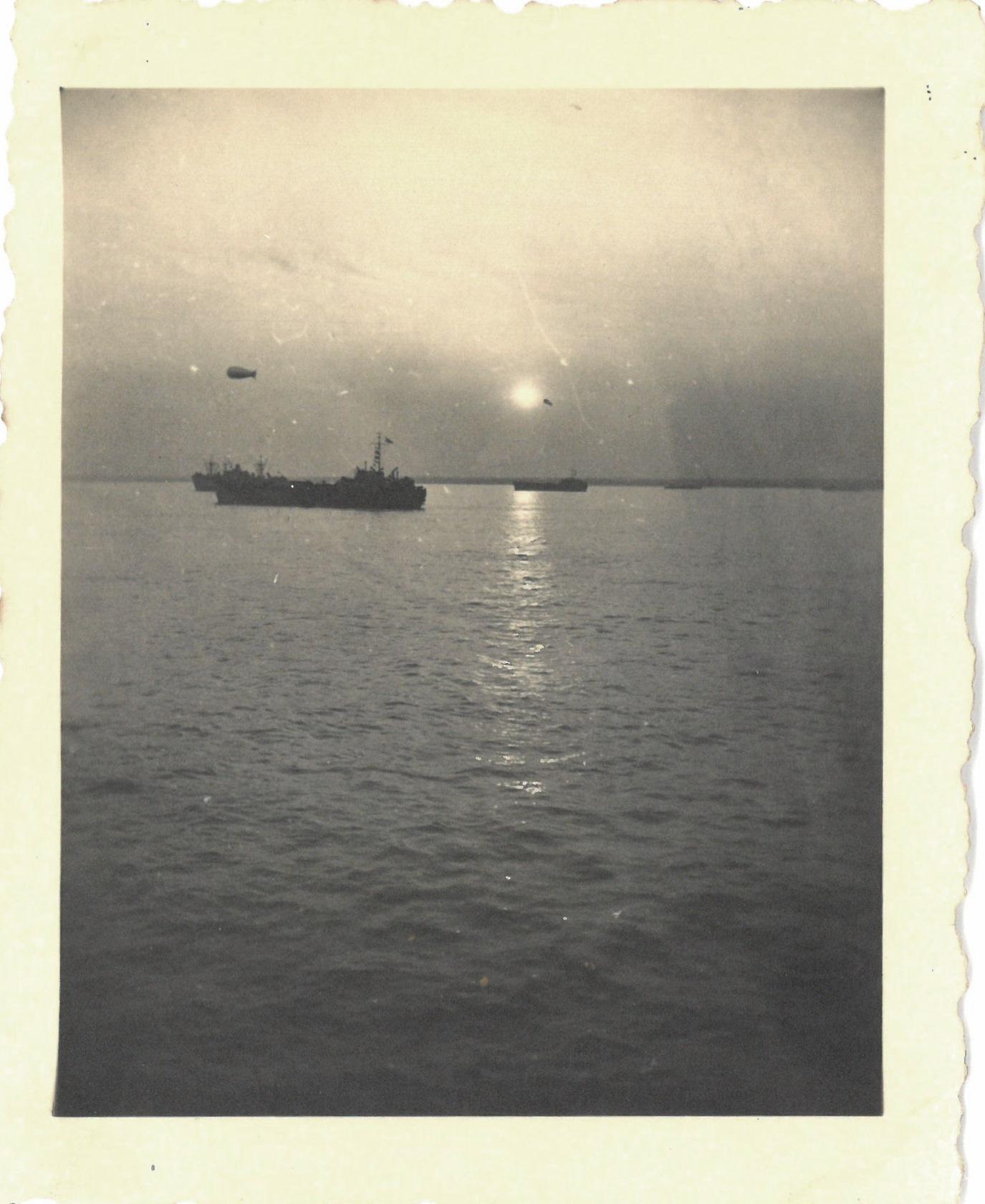'Harbour at Southampton' 1944, evening