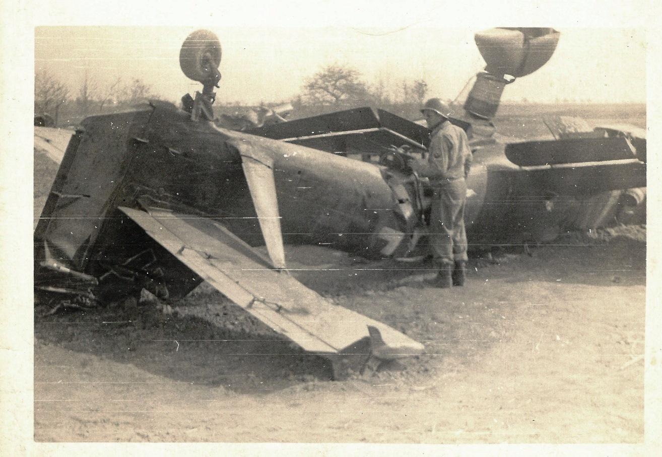 "Crashed Junkers Ju 87 or Stuka (from Sturzkampfflugzeug, ""dive bomber"")"