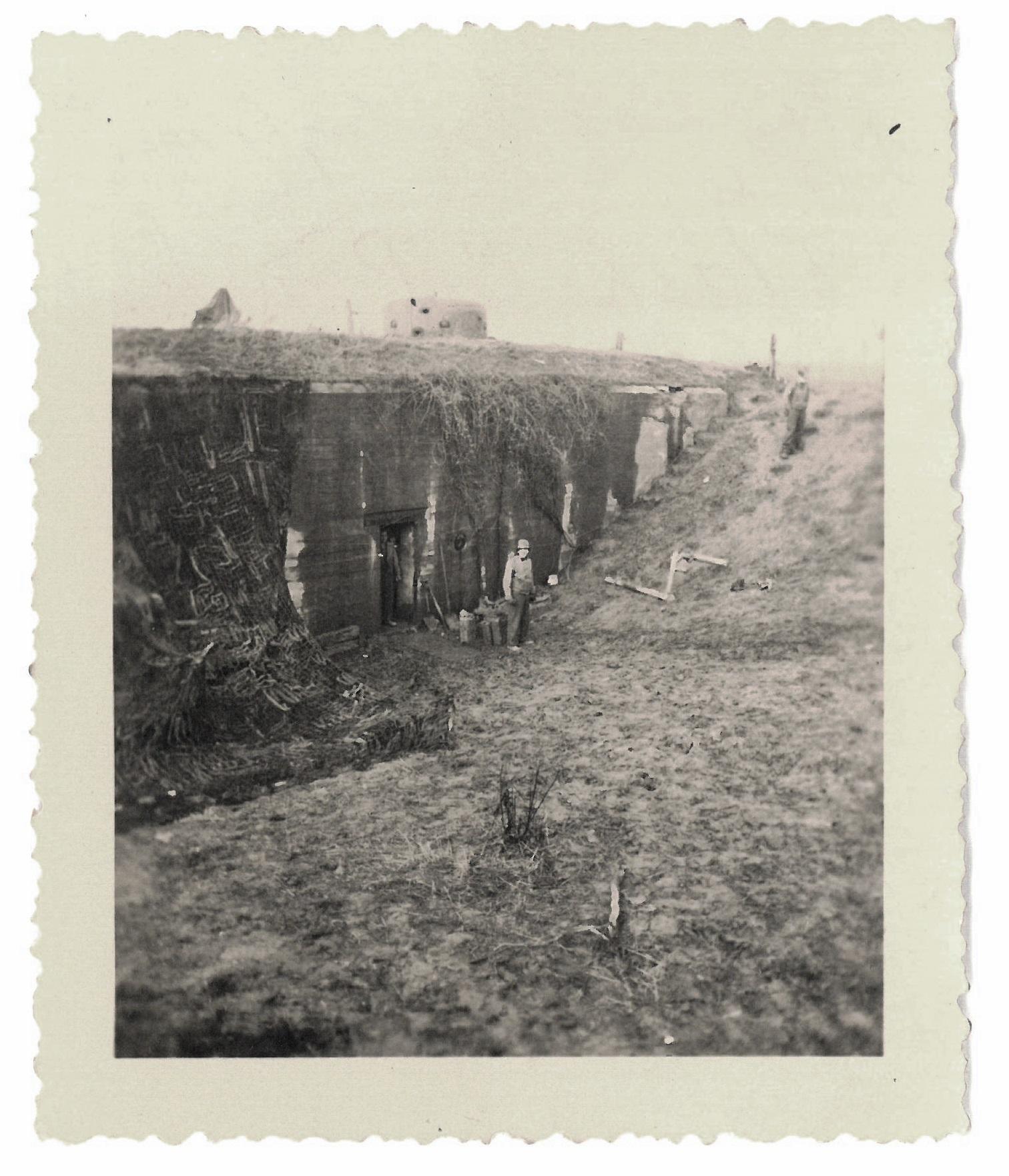 'Pill Box on Sigfried Line. Flash C.P. when we were at Rimburg Castle' ww2